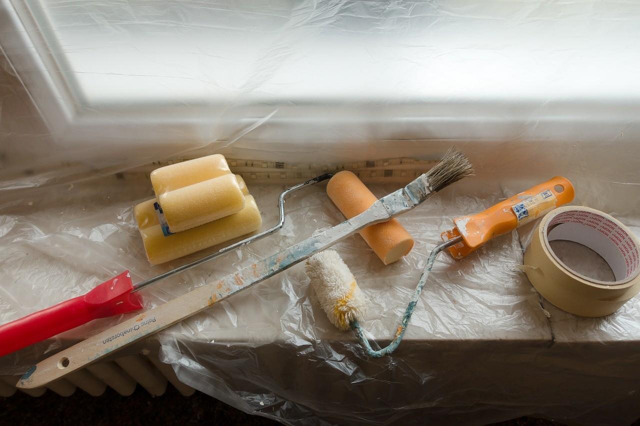 renovate, painter working, painting